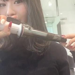 黒髪 デート パーマ ミディアム ヘアスタイルや髪型の写真・画像