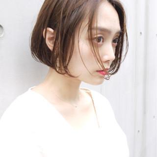 大人女子 ナチュラル オフィス ボブ ヘアスタイルや髪型の写真・画像
