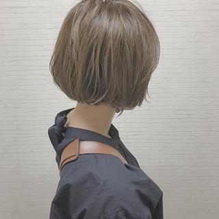 ボブ ショートボブ ナチュラル 切りっぱなし ヘアスタイルや髪型の写真・画像