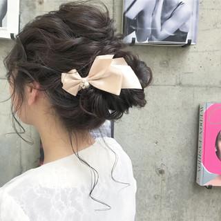 結婚式 ナチュラル 謝恩会 ヘアアレンジ ヘアスタイルや髪型の写真・画像