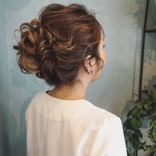 結婚式 エレガント パーティ 上品 ヘアスタイルや髪型の写真・画像