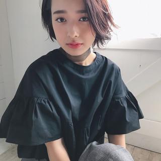 ボブ 秋 女子会 アンニュイ ヘアスタイルや髪型の写真・画像