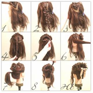 外国人風 フェミニン 簡単ヘアアレンジ ヘアアレンジ ヘアスタイルや髪型の写真・画像