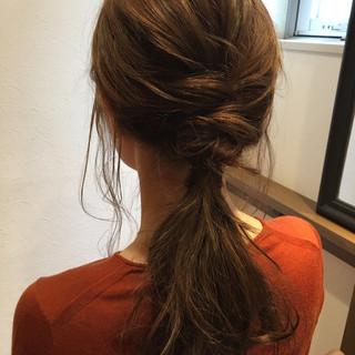 フェミニン ロング 大人女子 簡単ヘアアレンジ ヘアスタイルや髪型の写真・画像