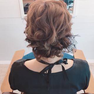 ヘアアレンジ ボブ デート ウェーブ ヘアスタイルや髪型の写真・画像