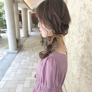 デート ヘアアレンジ 大人かわいい 簡単ヘアアレンジ ヘアスタイルや髪型の写真・画像