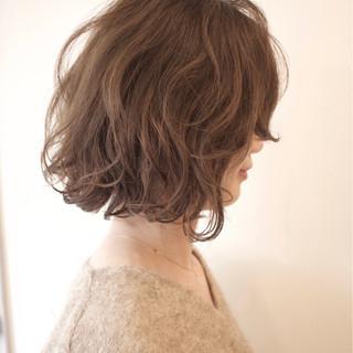 デジタルパーマ ストリート ボブ デート ヘアスタイルや髪型の写真・画像