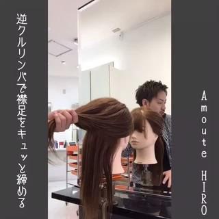 くるりんぱ ナチュラル ショート ミディアム ヘアスタイルや髪型の写真・画像