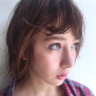 前髪あり ナチュラル ニュアンス 秋 ヘアスタイルや髪型の写真・画像