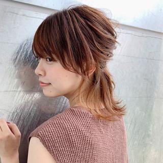 ミディアム ヘアアレンジ 大人女子 簡単ヘアアレンジ ヘアスタイルや髪型の写真・画像