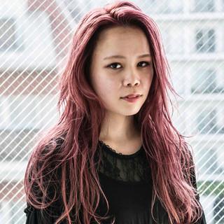 ガーリー ラベンダーピンク ピンク ピンクアッシュ ヘアスタイルや髪型の写真・画像