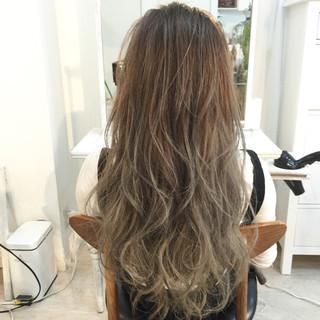 モテ髪 グラデーションカラー 外国人風 ロング ヘアスタイルや髪型の写真・画像