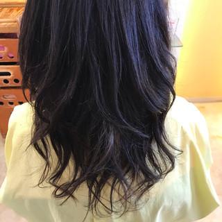 オフィス デート ロング フェミニン ヘアスタイルや髪型の写真・画像