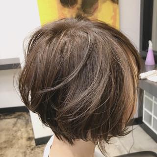 ショート ナチュラル マッシュ 秋 ヘアスタイルや髪型の写真・画像