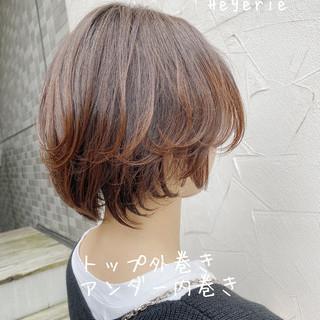 ショートボブ ハンサムショート ショート ナチュラル ヘアスタイルや髪型の写真・画像