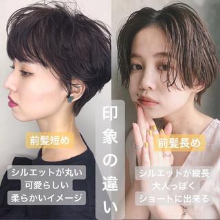 ナチュラル ショート インナーカラー ショートヘア ヘアスタイルや髪型の写真・画像