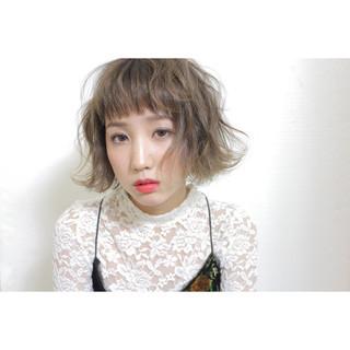 アッシュ ナチュラル ボブ 色気 ヘアスタイルや髪型の写真・画像