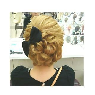 ゆるふわ セミロング 簡単ヘアアレンジ ショート ヘアスタイルや髪型の写真・画像