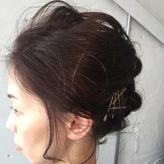 ロープ編み 結婚式 ヘアアレンジ ボブ ヘアスタイルや髪型の写真・画像