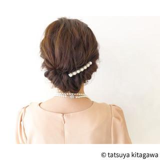 外国人風 ヘアアレンジ 上品 セミロング ヘアスタイルや髪型の写真・画像