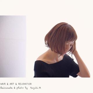 ナチュラル 透明感 秋 イルミナカラー ヘアスタイルや髪型の写真・画像