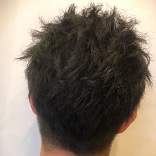 ショート パーマ ボーイッシュ ツイスト ヘアスタイルや髪型の写真・画像