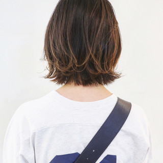 グラデーションカラー ボブ ミニボブ ナチュラルグラデーション ヘアスタイルや髪型の写真・画像