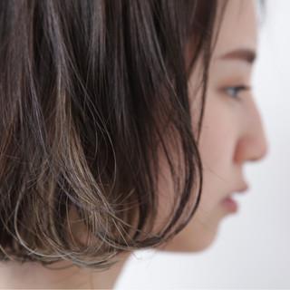 色気 モード ボブ インナーカラー ヘアスタイルや髪型の写真・画像