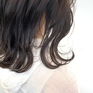 アンニュイほつれヘア 透明感 外ハネボブ ナチュラル ヘアスタイルや髪型の写真・画像