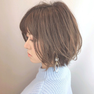 小顔 大人グラボブ コンサバ 美シルエット ヘアスタイルや髪型の写真・画像