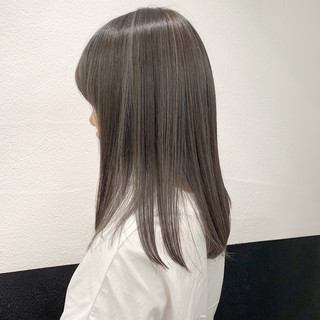 ハイライト 透明感カラー 3Dハイライト グレージュ ヘアスタイルや髪型の写真・画像