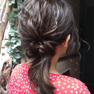 外国人風 ナチュラル 簡単ヘアアレンジ アウトドア ヘアスタイルや髪型の写真・画像