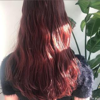 大人かわいい ラベンダーピンク ロング ピンク ヘアスタイルや髪型の写真・画像