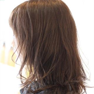 マット ゆるふわ セミロング ナチュラル ヘアスタイルや髪型の写真・画像