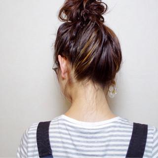 ヘアアレンジ 簡単 ロング ガーリー ヘアスタイルや髪型の写真・画像