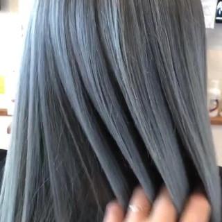 外国人風カラー ロング バレイヤージュ ストリート ヘアスタイルや髪型の写真・画像
