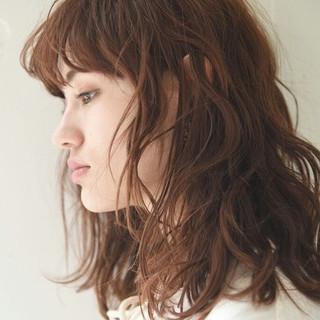 ニュアンス 大人かわいい パーマ ナチュラル ヘアスタイルや髪型の写真・画像