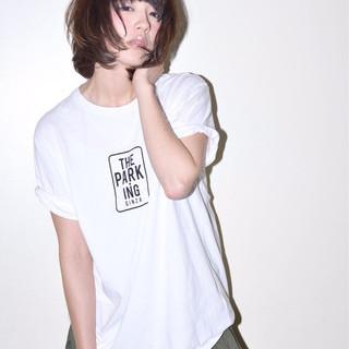 モード 黒髪 ネイビーアッシュ 大人かわいい ヘアスタイルや髪型の写真・画像