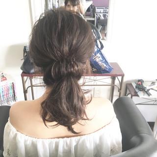 デート フェミニン ミディアム 結婚式 ヘアスタイルや髪型の写真・画像