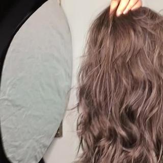 ロング アッシュ リラックス 外国人風 ヘアスタイルや髪型の写真・画像