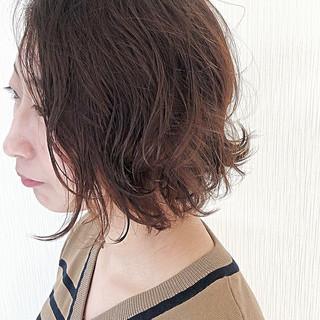 ボブ パーマ 無造作パーマ ボブ ヘアスタイルや髪型の写真・画像