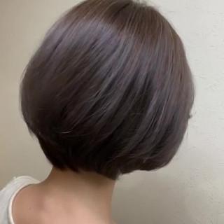 ナチュラル ショート グレージュ 外国人風カラー ヘアスタイルや髪型の写真・画像