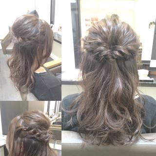 簡単ヘアアレンジ セミロング 大人かわいい ヘアアレンジ ヘアスタイルや髪型の写真・画像