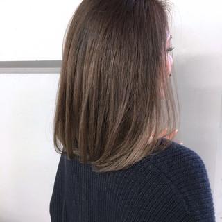 グラデーションカラー ミディアム ボブ 色気 ヘアスタイルや髪型の写真・画像