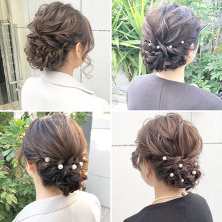 ロング ヘアアレンジ デート 結婚式 ヘアスタイルや髪型の写真・画像