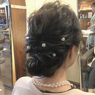 デート ナチュラル 結婚式 簡単ヘアアレンジ ヘアスタイルや髪型の写真・画像