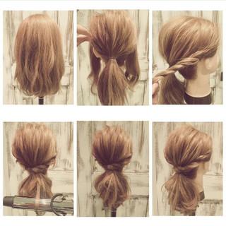 ゆるふわ ヘアアレンジ ショート フェミニン ヘアスタイルや髪型の写真・画像