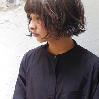 ストリート 大人かわいい ボブ 簡単 ヘアスタイルや髪型の写真・画像