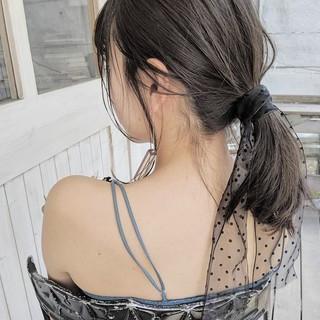 ヘアアレンジ ガーリー ミディアム デート ヘアスタイルや髪型の写真・画像
