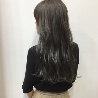 女子力 グレージュ ナチュラル ハイライト ヘアスタイルや髪型の写真・画像